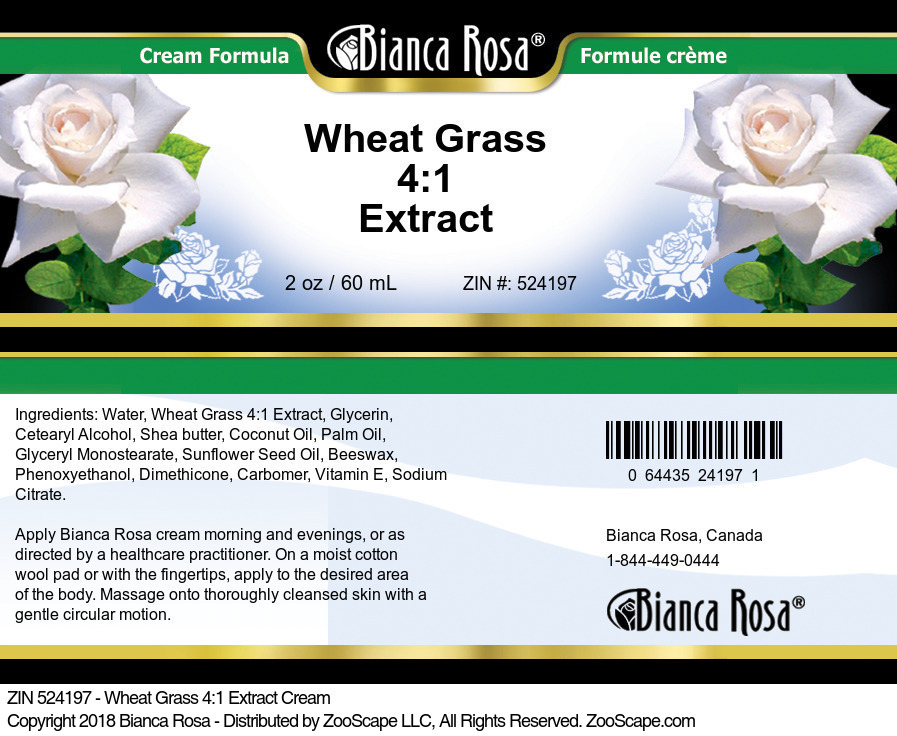 Wheat Grass 4:1 Extract Cream