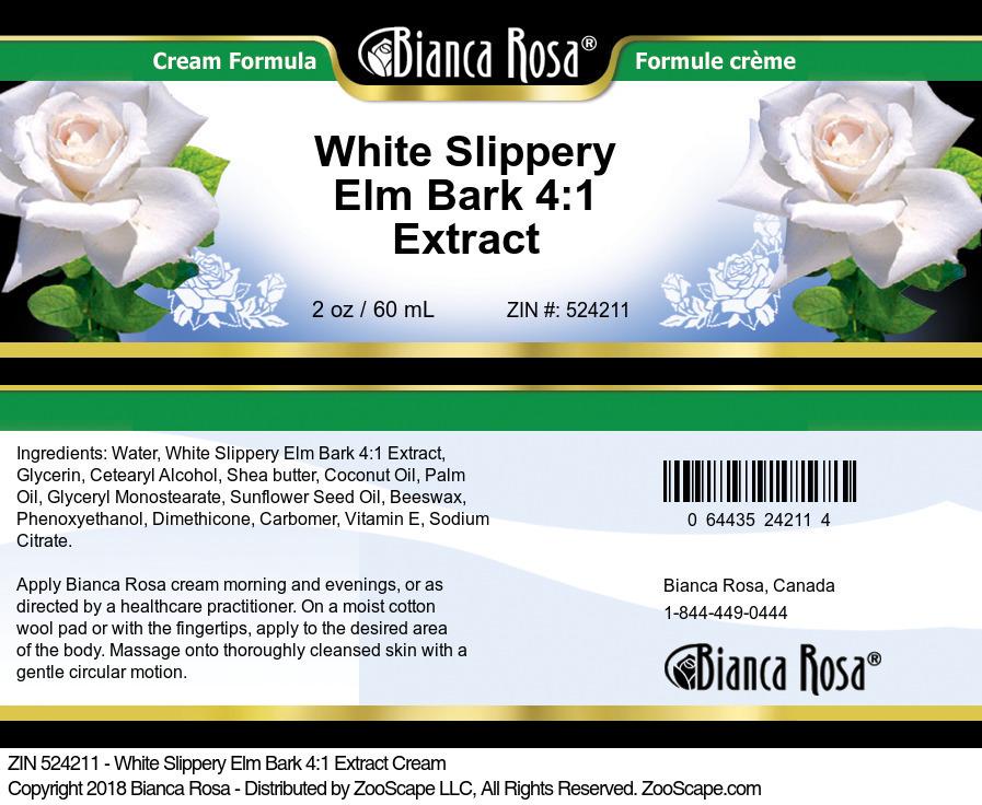 White Slippery Elm Bark 4:1 Extract Cream