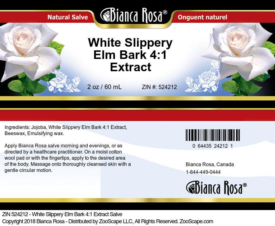 White Slippery Elm Bark 4:1 Extract Salve