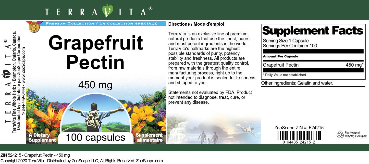 Grapefruit Pectin - 450 mg