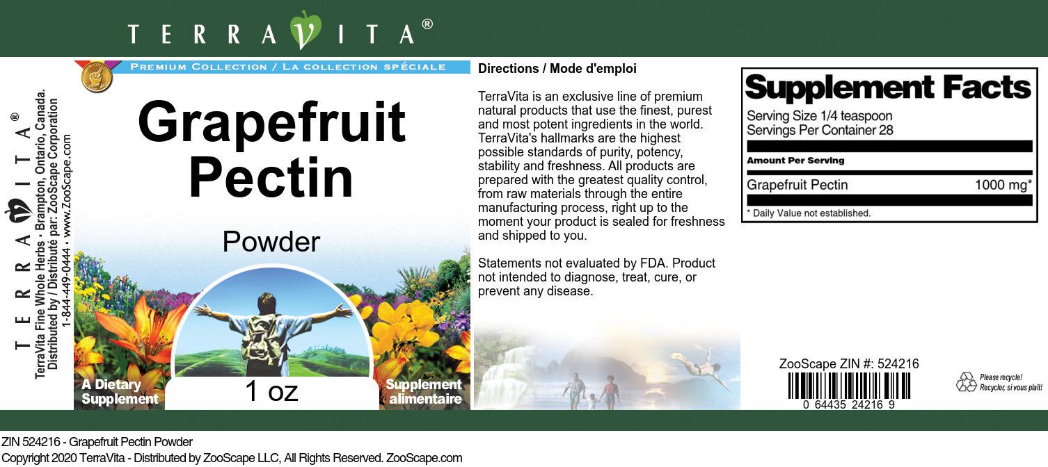 Grapefruit Pectin Powder
