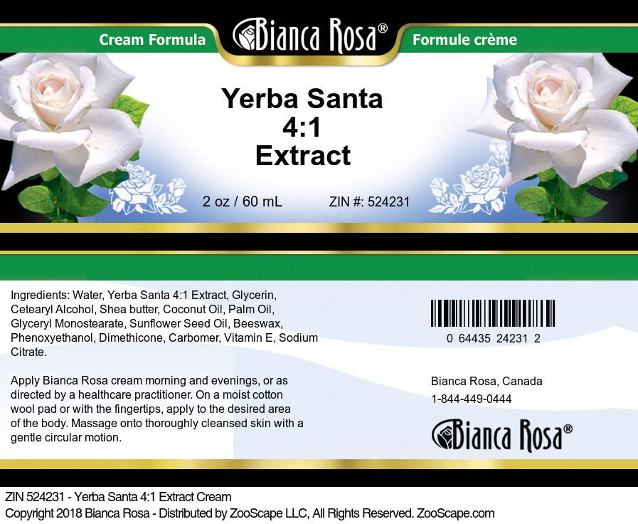 Yerba Santa 4:1 Extract Cream