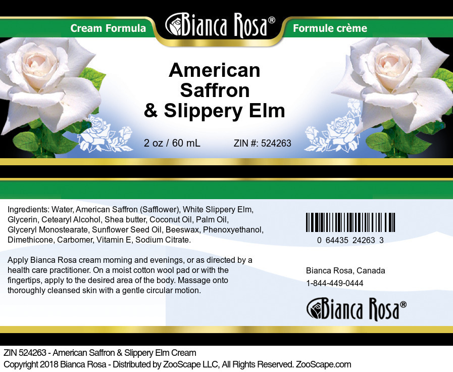 American Saffron & Slippery Elm Cream