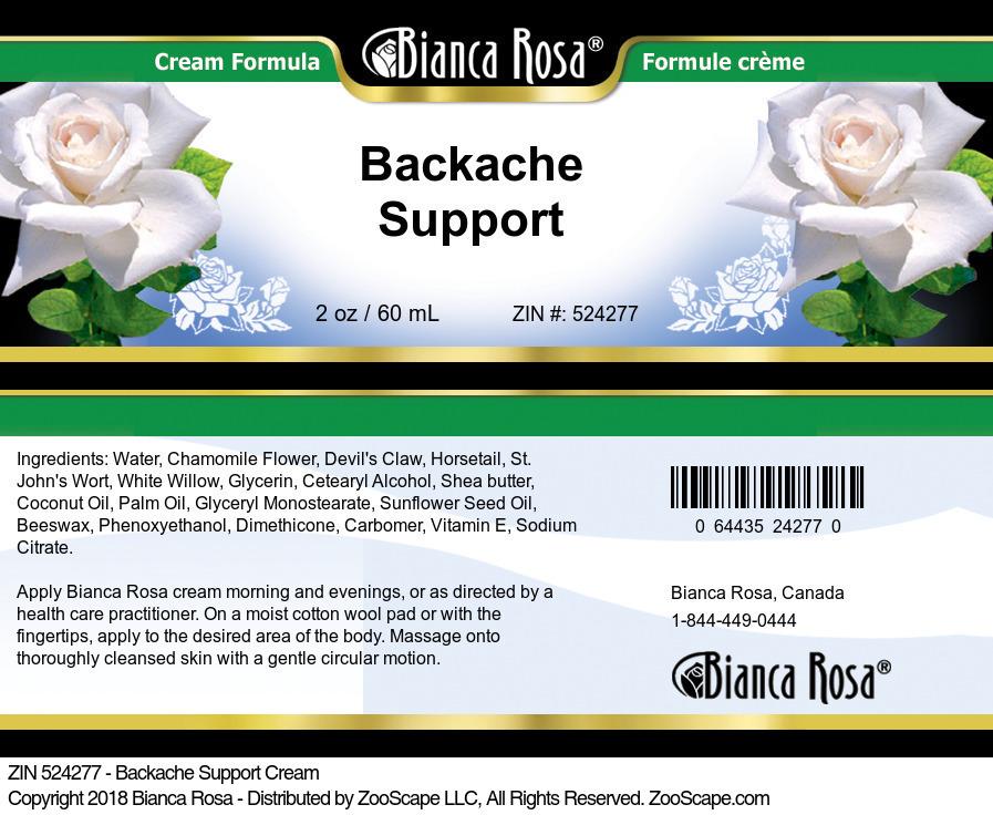 Backache Support Cream