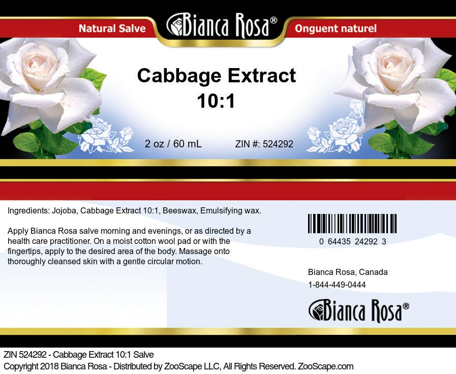Cabbage Extract 10:1 Salve