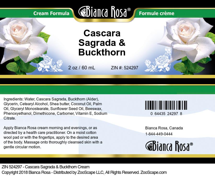 Cascara Sagrada & Buckthorn Cream
