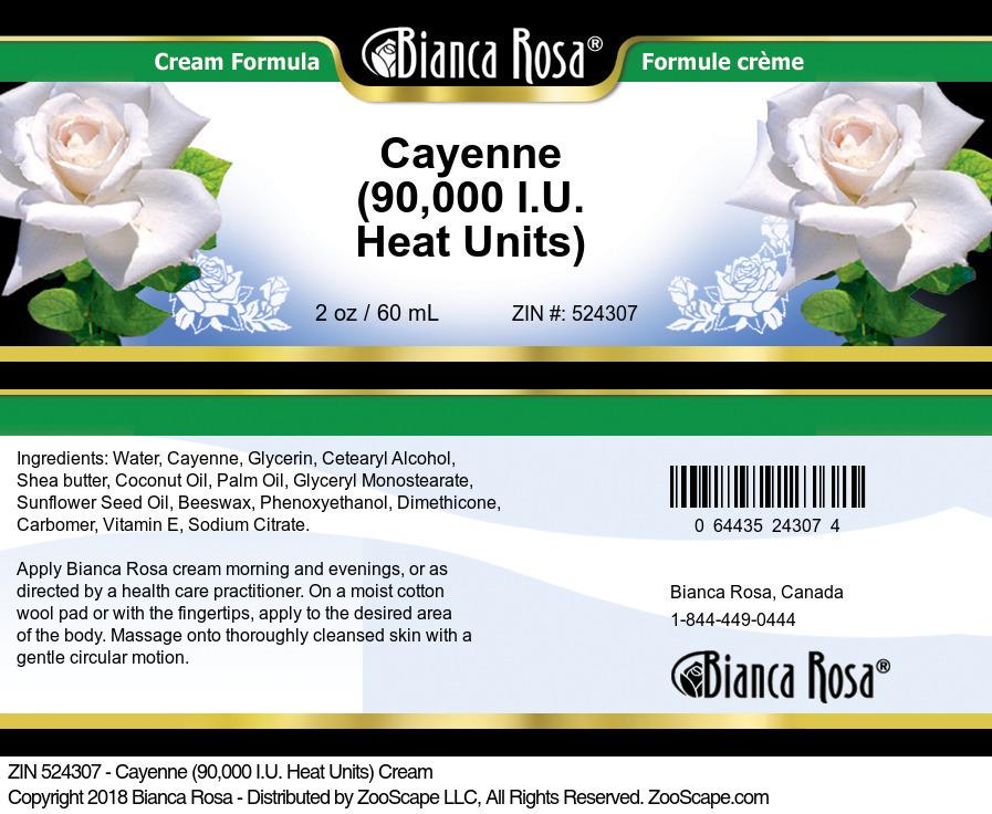 Cayenne (90,000 I.U. Heat Units) Cream