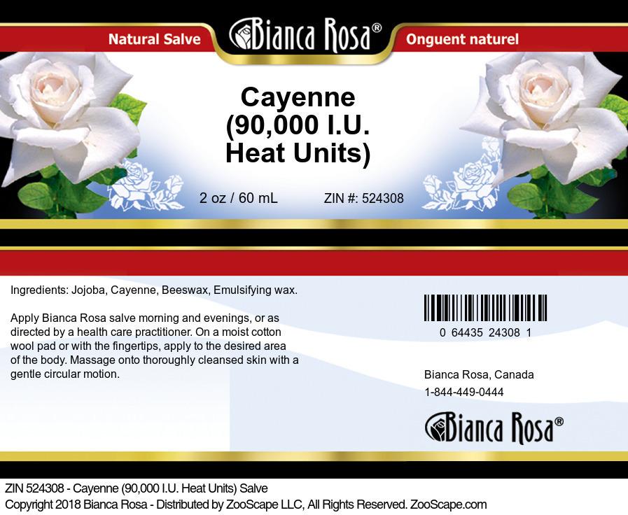 Cayenne (90,000 I.U. Heat Units) Salve