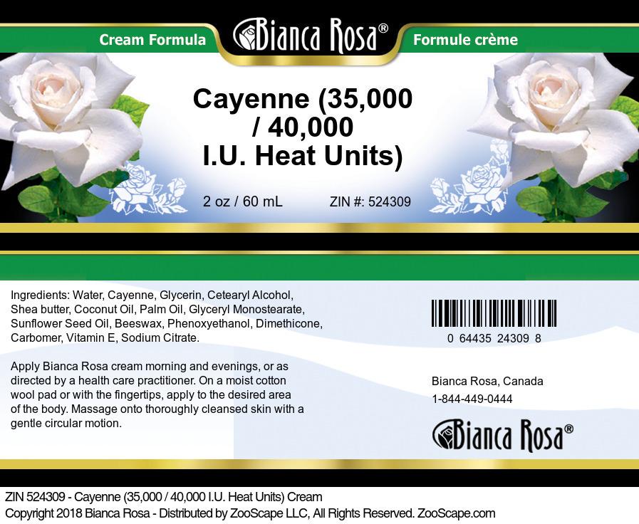 Cayenne (35,000 / 40,000 I.U. Heat Units) Cream