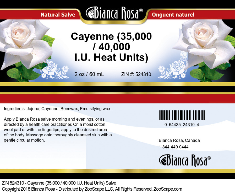 Cayenne (35,000 / 40,000 I.U. Heat Units) Salve
