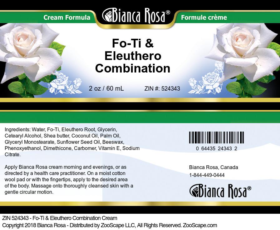 Fo-Ti & Eleuthero Combination Cream