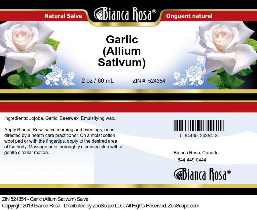Garlic (Allium Sativum) Salve