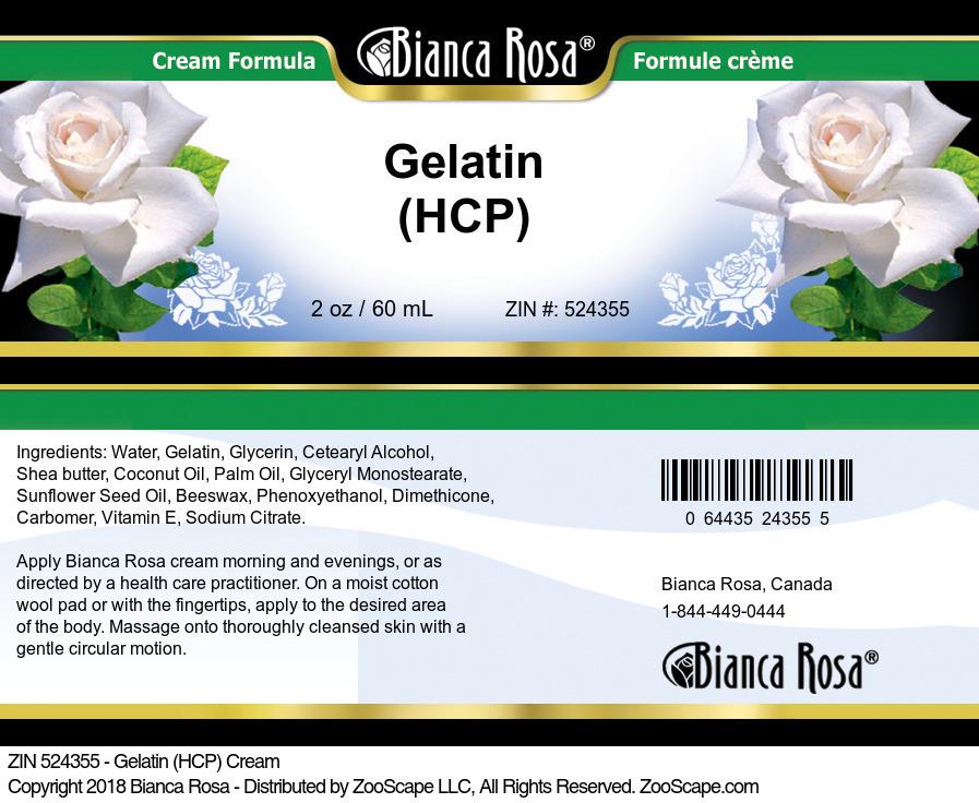 Gelatin (HCP) Cream