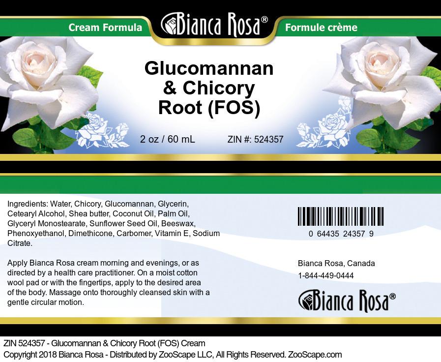 Glucomannan & Chicory Root (FOS) Cream