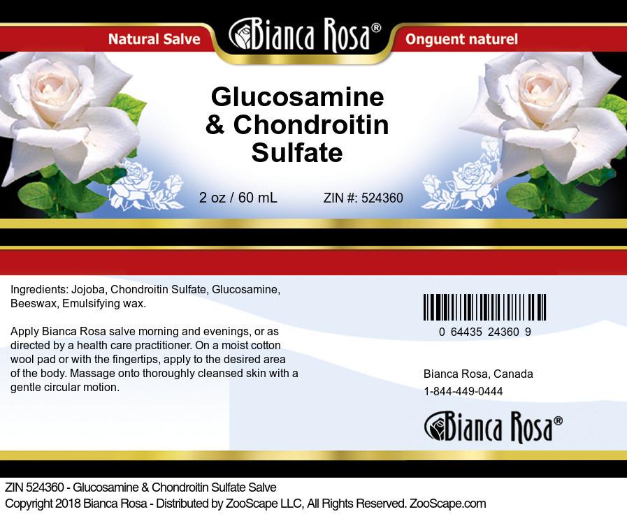 Glucosamine & Chondroitin Sulfate Salve