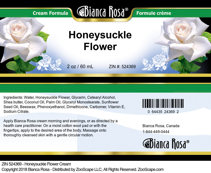 Honeysuckle Flower Cream