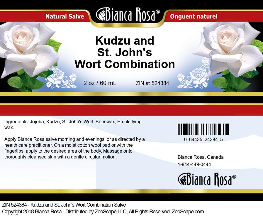 Kudzu and St. John's Wort Combination