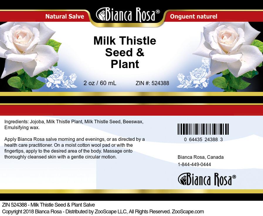 Milk Thistle Seed & Plant Salve