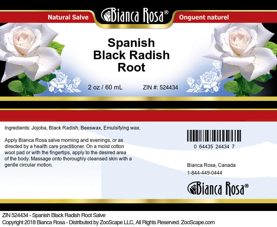 Spanish Black Radish Root