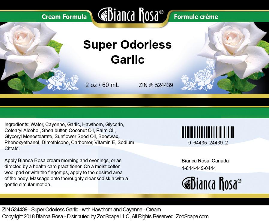 Super Odorless Garlic - with Hawthorn and Cayenne - Cream