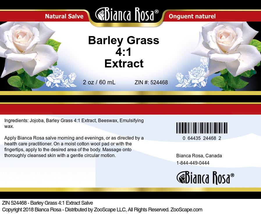 Barley Grass 4:1 Extract Salve