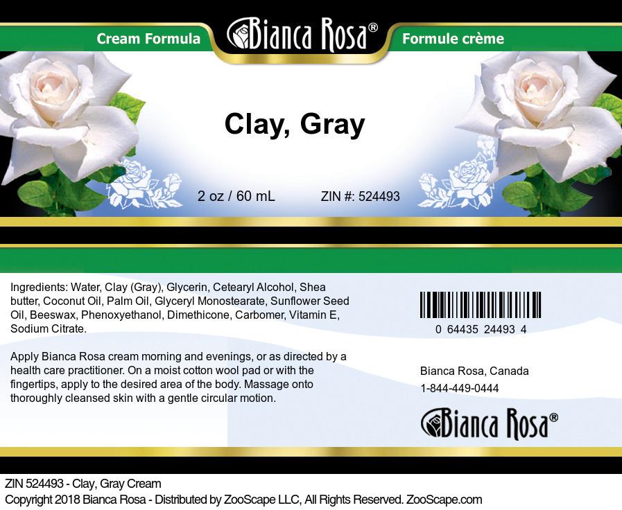 Clay, Gray Cream