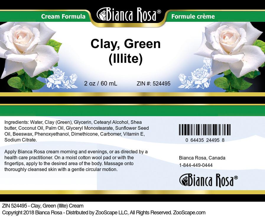Clay, Green (Illite) Cream