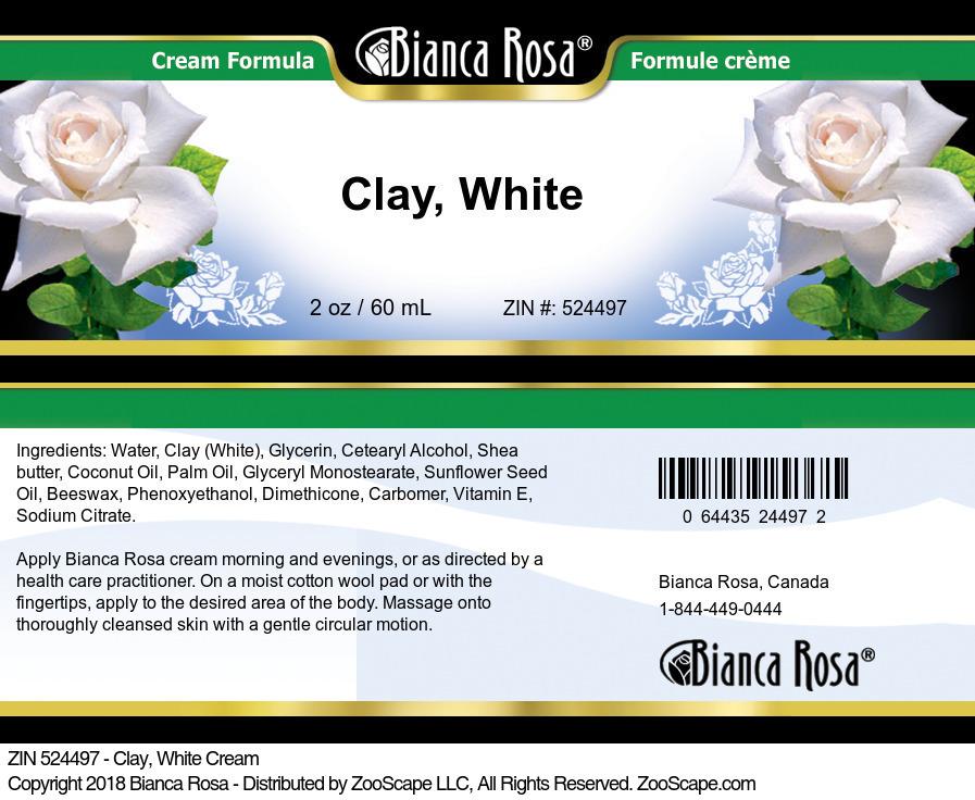 Clay, White Cream