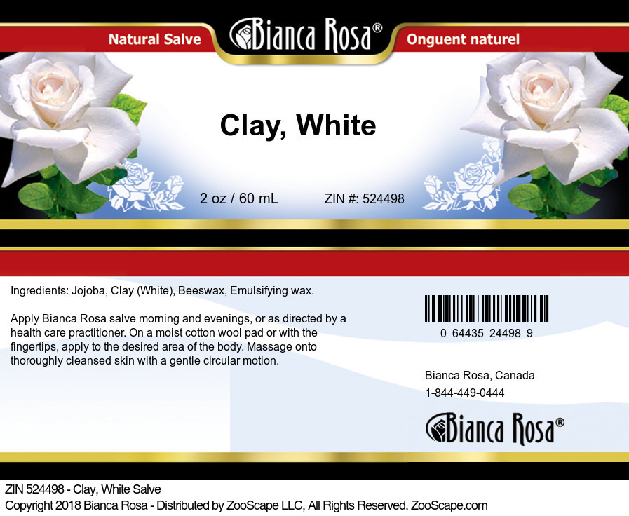 Clay, White Salve