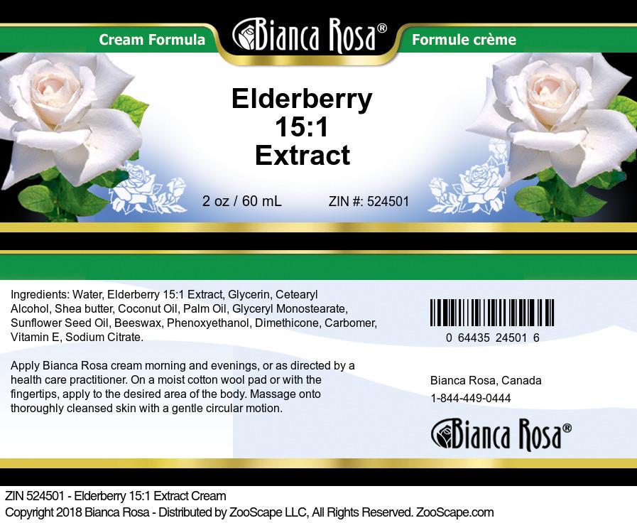 Elderberry 15:1 Extract Cream