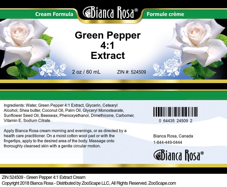 Green Pepper 4:1 Extract Cream
