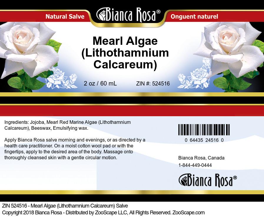 Mearl Algae (Lithothamnium Calcareum) Salve