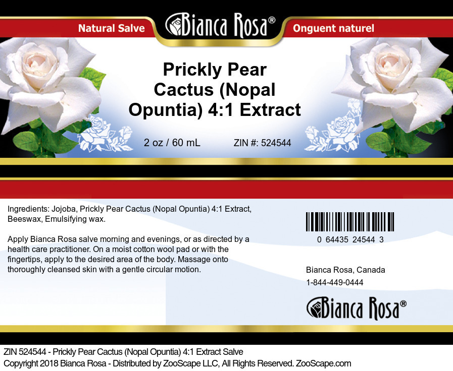 Prickly Pear Cactus (Nopal Opuntia) 4:1 Extract Salve