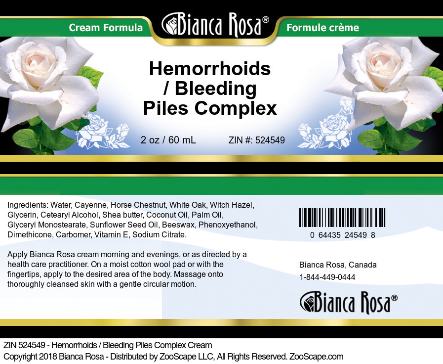 Hemorrhoids / Bleeding Piles Complex Cream