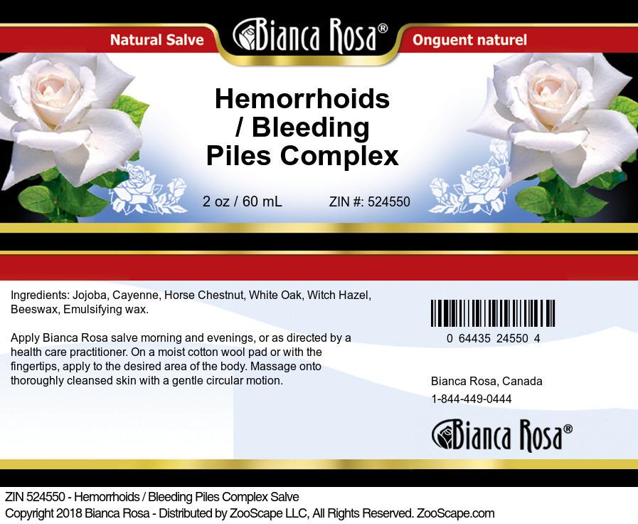 Hemorrhoids / Bleeding Piles Complex Salve