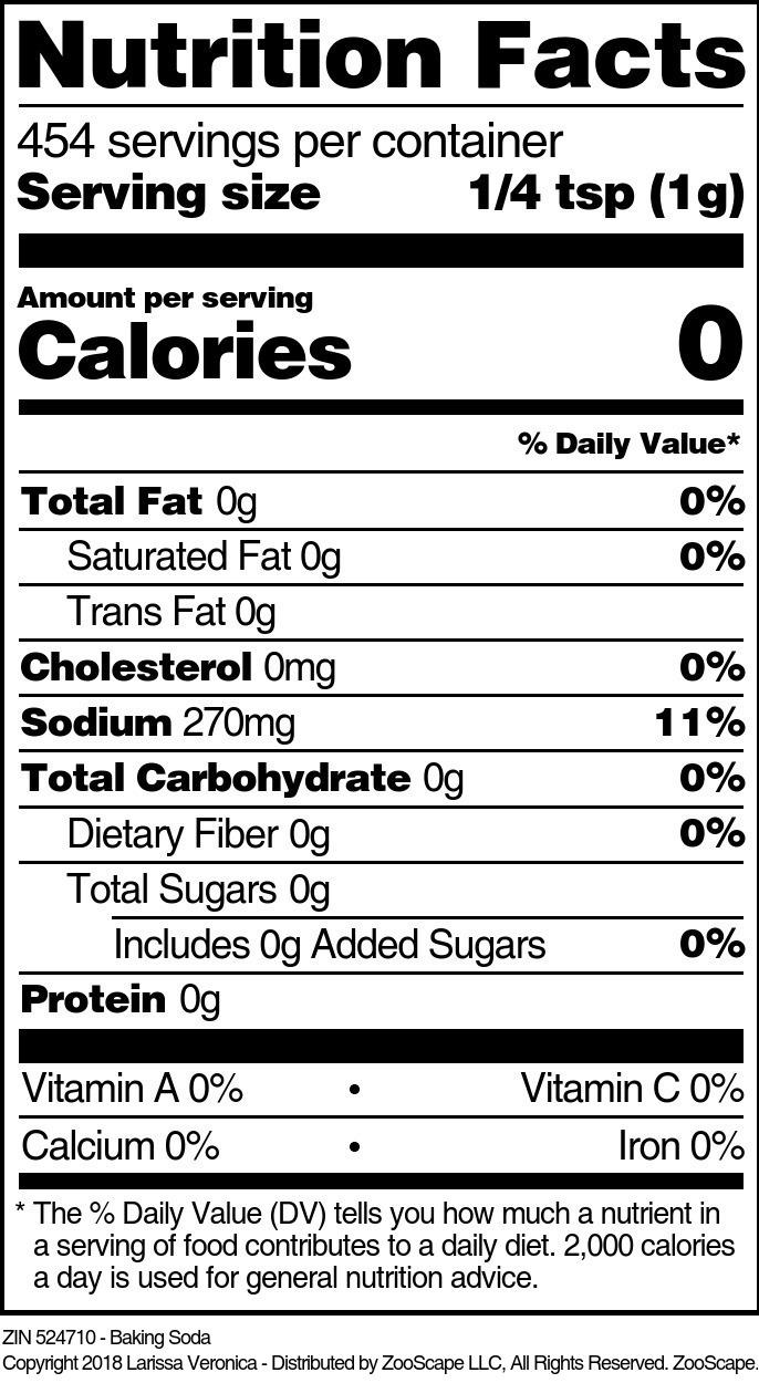 Baking Soda - Label