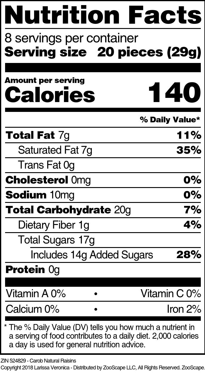 Carob Natural Raisins