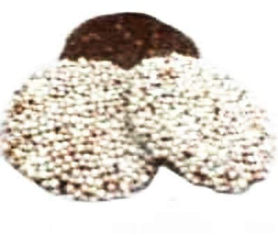 Chocolate Drops with White Nonpareils
