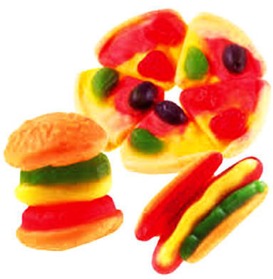 Gummy Burgers, Hot Dogs, Pizza and Sea Creatures