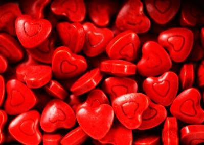 Red Candy Cherry Hearts Collection