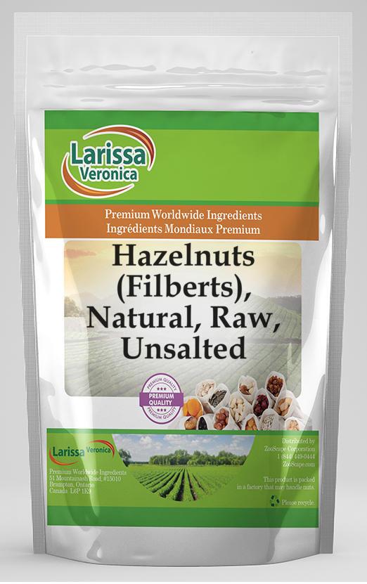 Hazelnuts (Filberts), Natural, Raw, Unsalted