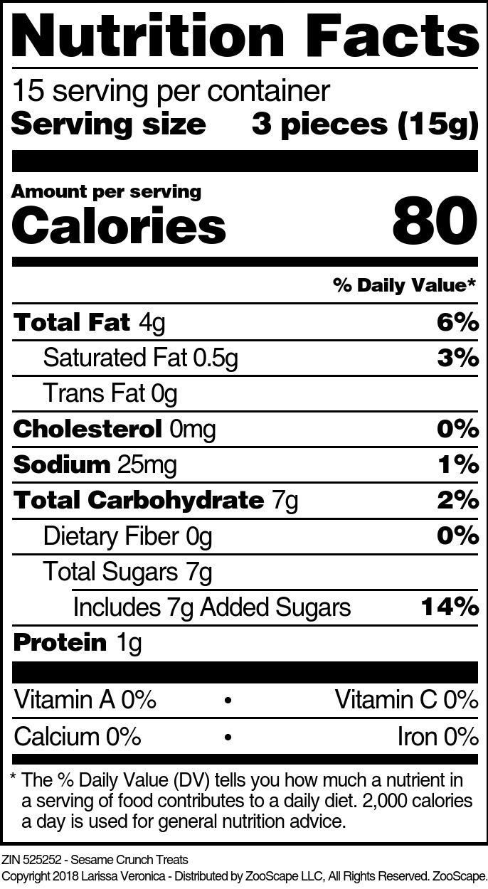 Sesame Crunch Treats