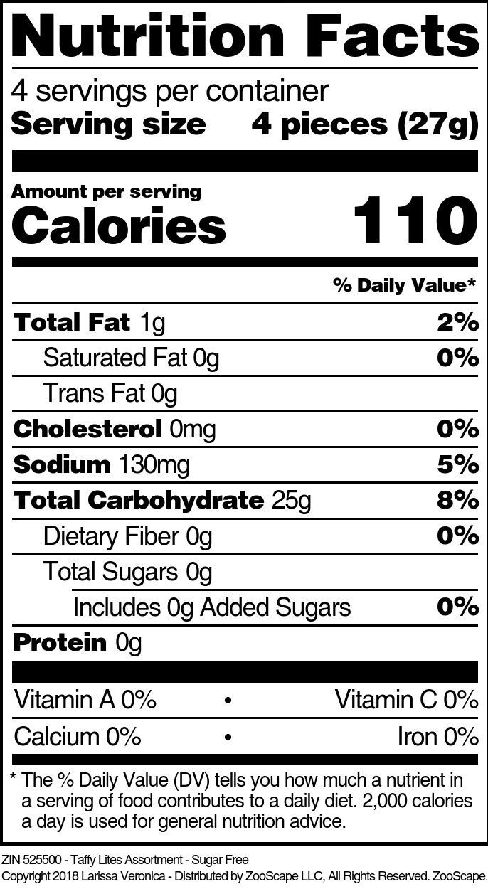 Taffy Lites Assortment - Sugar Free