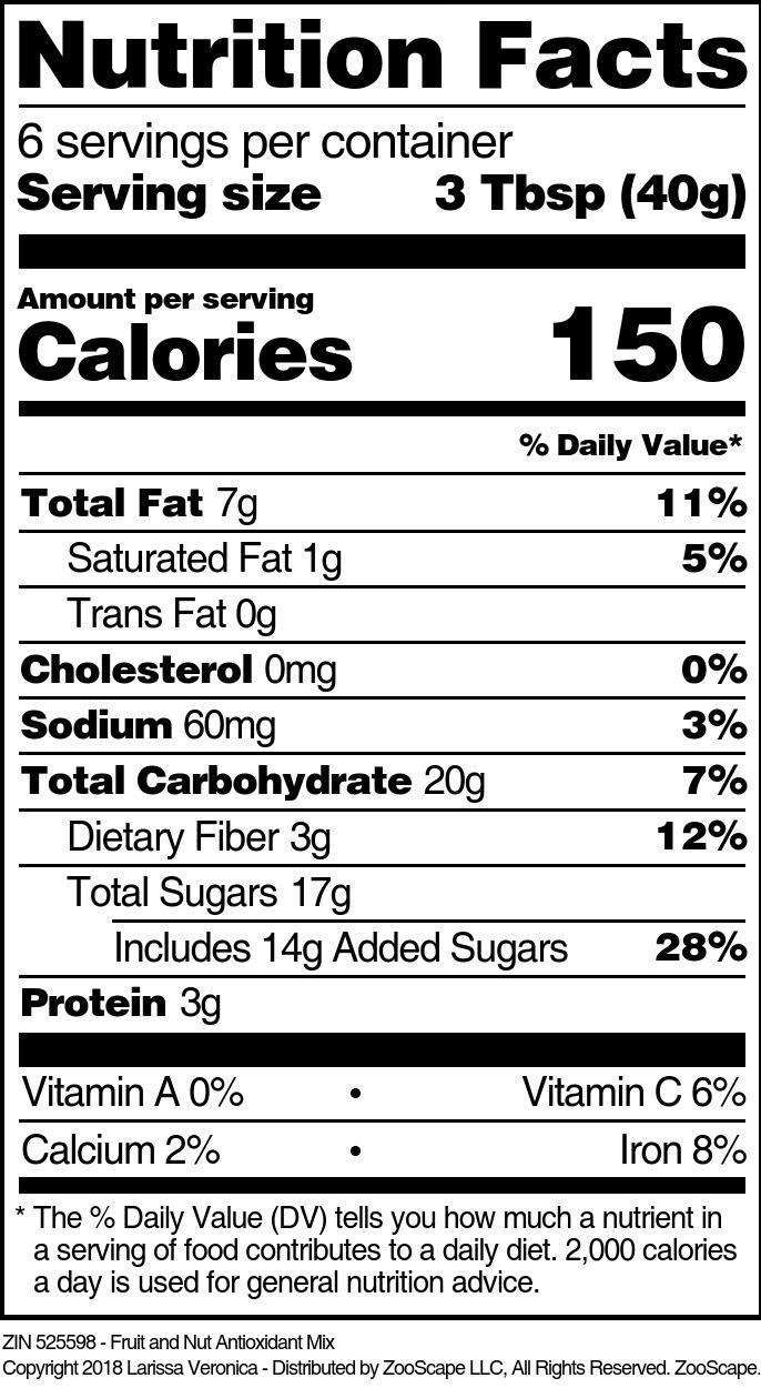 Fruit and Nut Antioxidant Mix