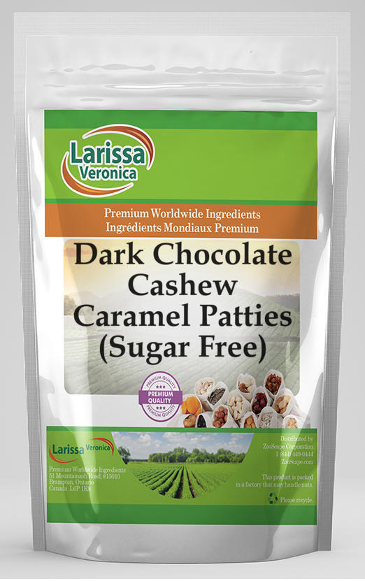 Dark Chocolate Cashew Caramel Patties (Sugar Free)