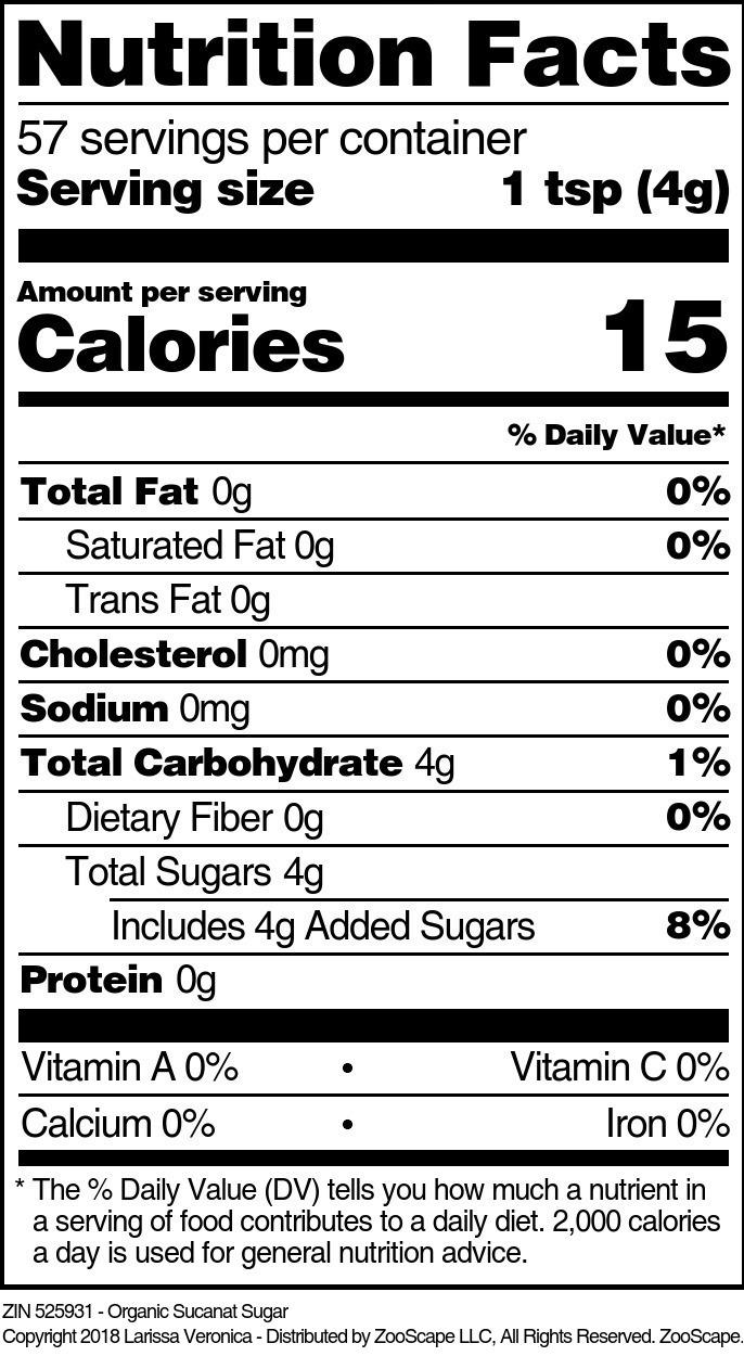 Organic Sucanat Sugar