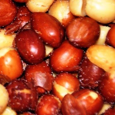 Peanuts, Redskin, Roasted and Salted