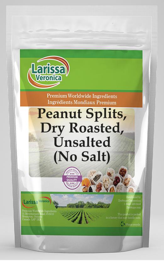 Peanut Splits, Dry Roasted, Unsalted (No Salt)