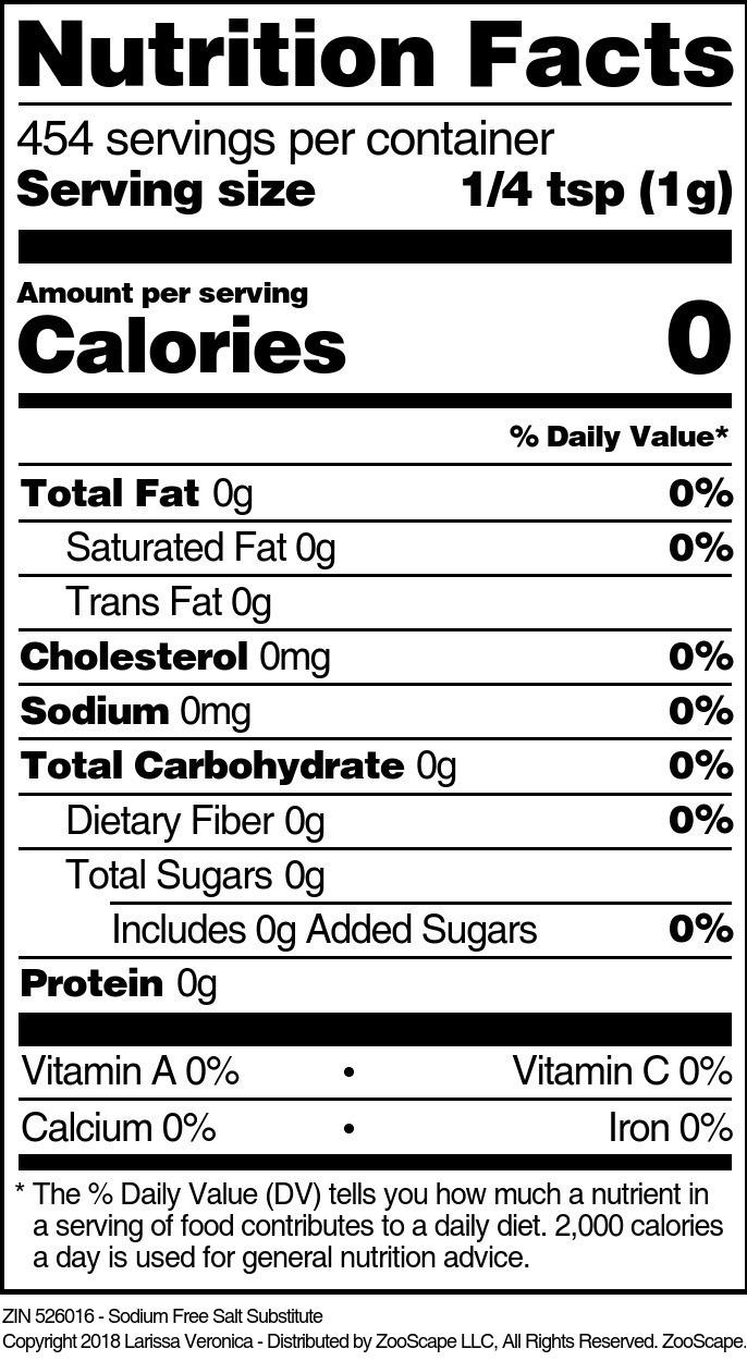 Sodium Free Salt Substitute