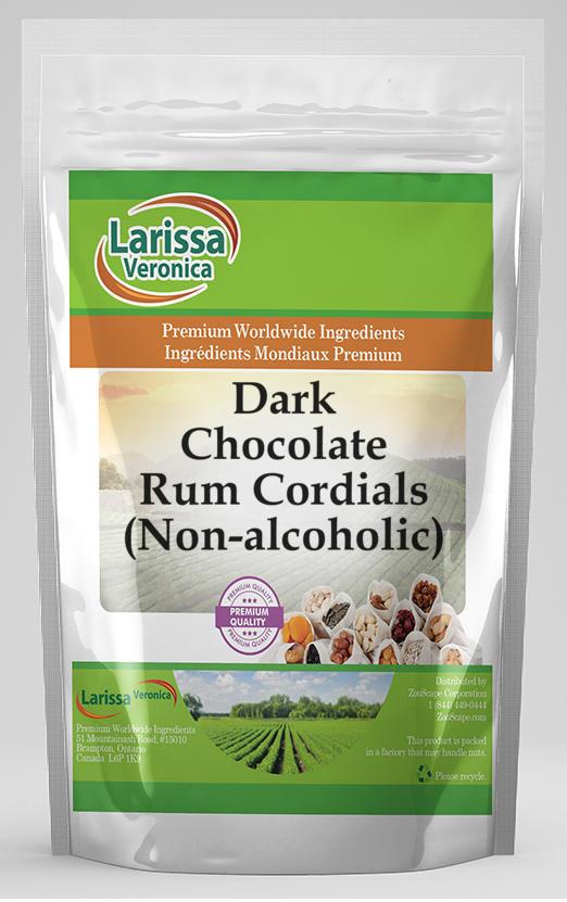 Dark Chocolate Rum Cordials (Non-alcoholic)